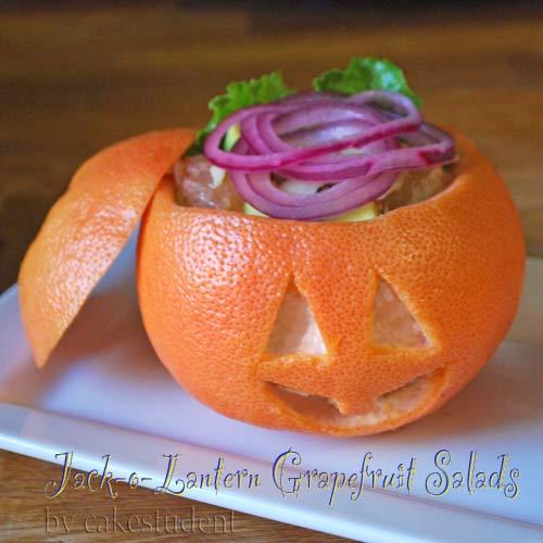 Jack-o-Lantern Grapefruit Salad