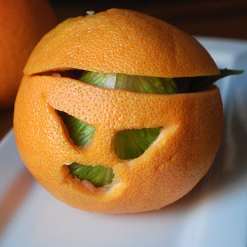 Jack-o-Lantern Grapefruit