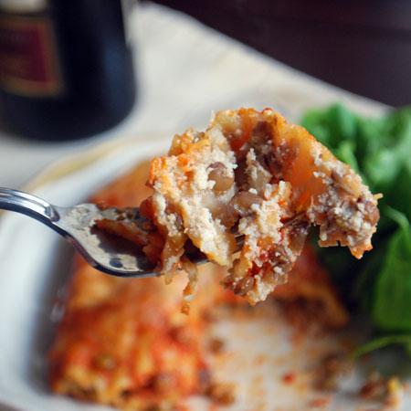 Bite of Manicotti