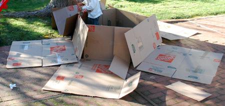 Cardboard Rocket Ship