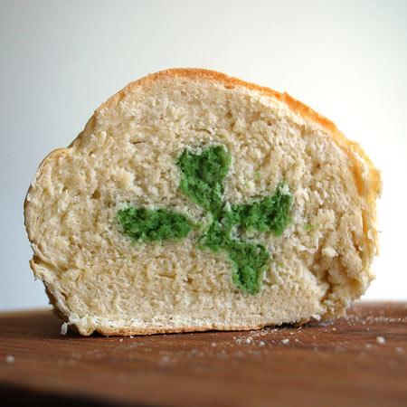 Shamrock Bread Art
