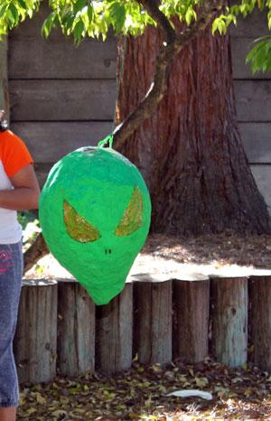 Paper Mache Alien Head piñata
