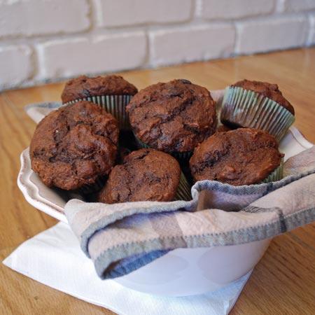 Chocolate Beet Muffins