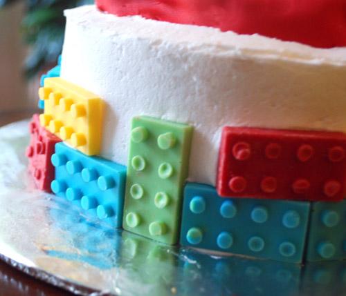 Chocolate Lego Bricks Birthday Cake