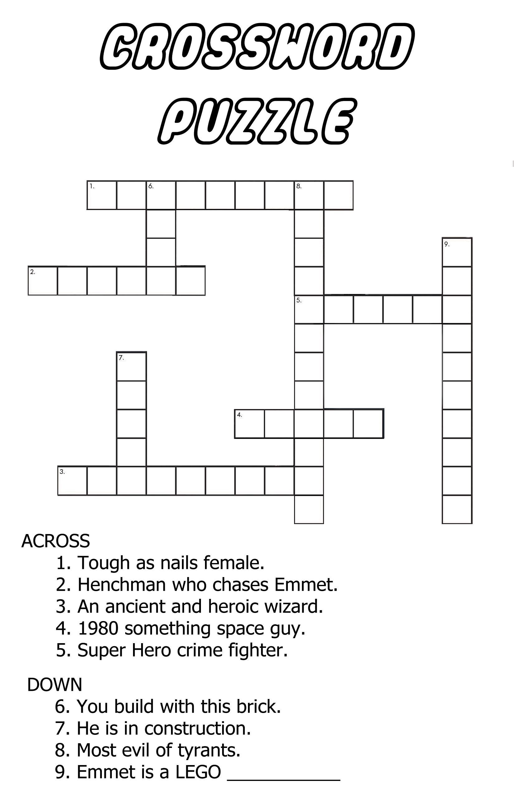 Piece Of Cake Crossword